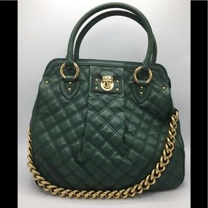 Marc Jacobs Italy Large Quilt Leather Satchel Bag